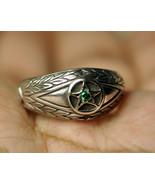 Celtic convert negative wealth to positive ring Pentagram 925 Sterling S... - $29.69