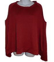 C&C California Cold Shoulder Knit Top sz XL heathered dark red NEW - $40.00