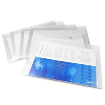 Rapesco Popper Wallet  A4 Clear Transparent  Pack of 5  0695 - $5.99