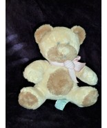 "13"" SOFT BABIES RATTLE BEAR 'TAFFEY' FROM RUSS WITH PINK BOW Cream/Tan/B... - $24.74"