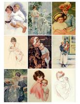 Printable Vintage Mothers & Children  Babies Digital Collage Sheet  Clip... - $2.50