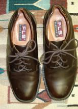 Men's FLORSHEIM Waterproof Brown Leather Oxford Size 8D NICE! - $36.09