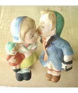 Vintage Boy and Girl Kissing Shelf Sitter Figures Porcelain Lipper & Man... - $24.99