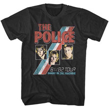 The Police-Ghost In The Machine 81/82 Tour-X-Large Black T-shirt - $20.31