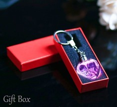 Laser Engraved Photo Key Personalized Picture Keychain Chain LED Lightin... - $14.59