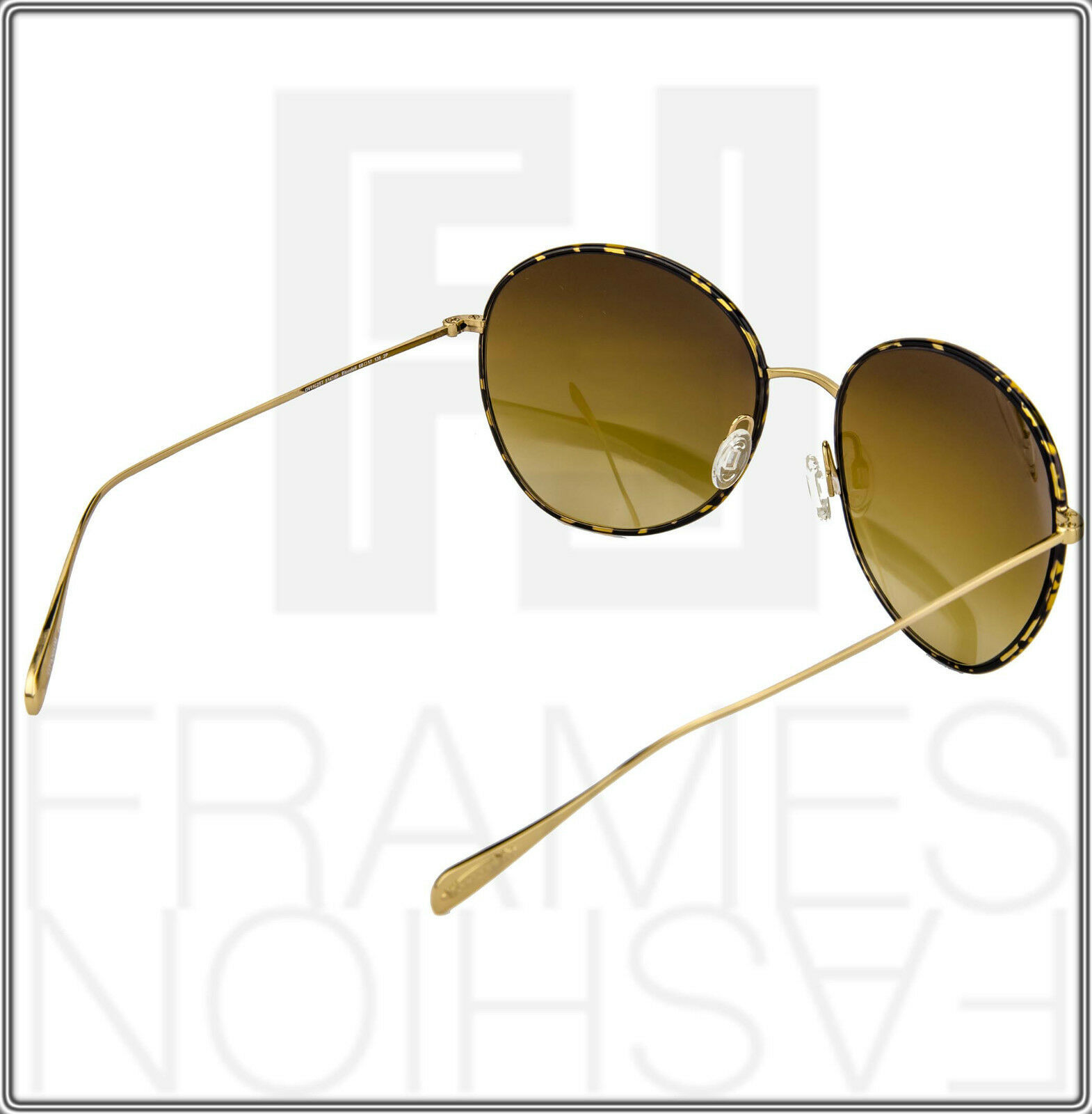OLIVER PEOPLES BLONDELL Gold Titanium Brown Polarized Round Sunglasses OV 1102ST image 6