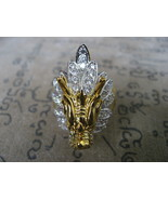 Very Rare Blessed Holy Dragon-Head Magic Ring Lucky Rich Powerful Buddha... - $15.99