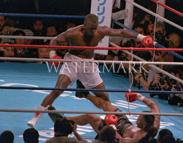 Mike Tyson Buster Douglas EOS Vintage 11X14 Color Boxing Memorabilia Photo - $14.95