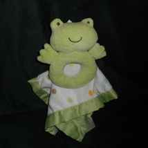 Carter's Baby Green Frog Rattle 99584 Security Blanket Stuffed Animal Plush Toy - $42.08