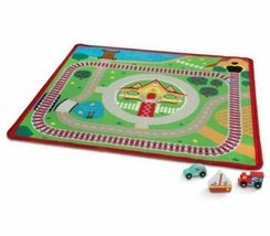 Melissa & Doug Mickey Mouse Activity Rug Playmat Set With 3 Wooden Vehicles - $34.29