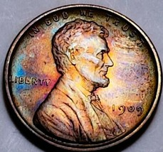 1909 VDB- UNC++ RB Lincoln Wheat Cent*  BEAUTIFULLY NATURALLY TONED *. 539 - $63.70