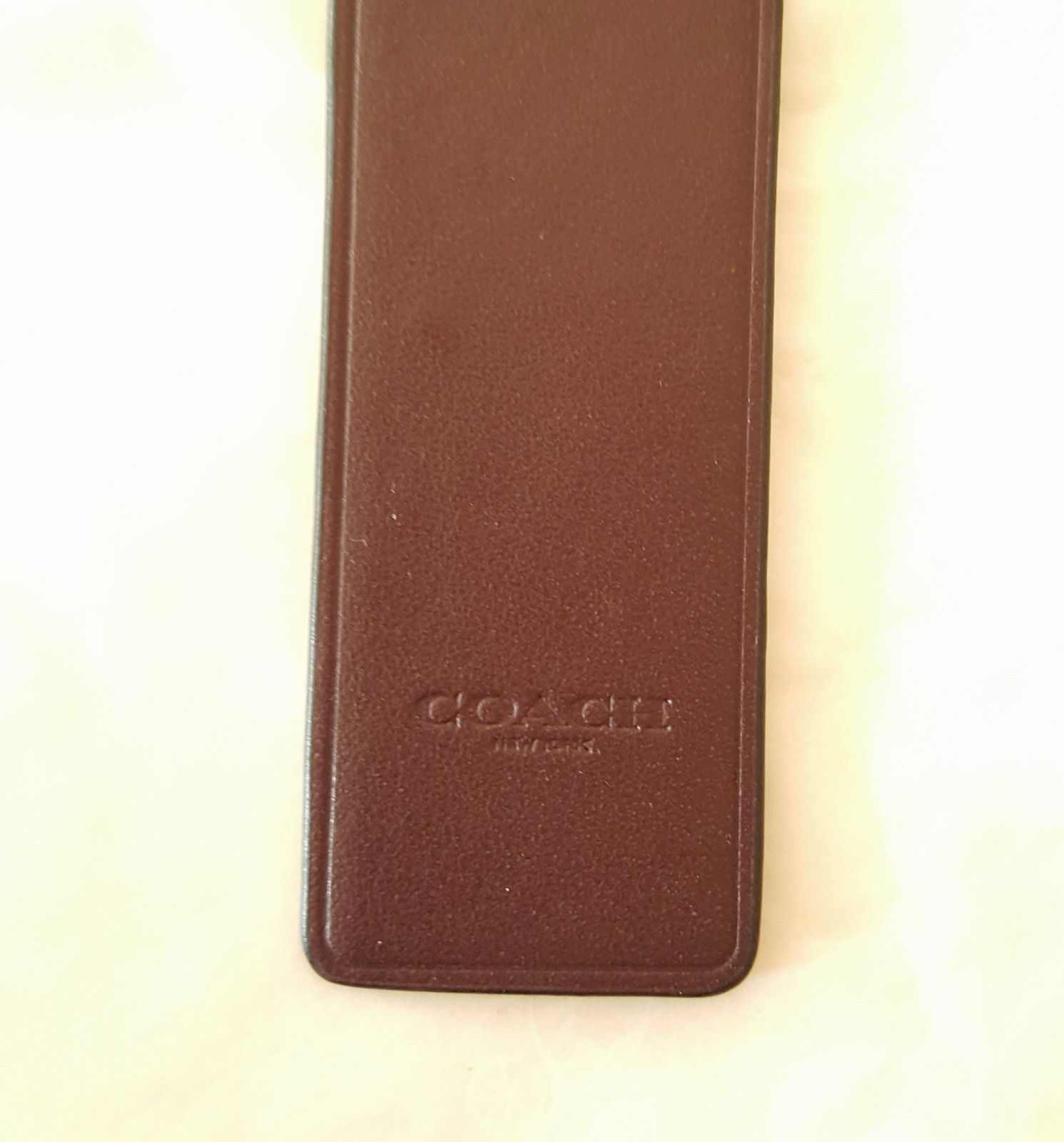 NEW COACH LEATHER BOOKMARK Choice of 1 Outlaw, Fuzz, or Ace image 3