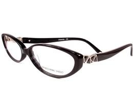 Carmen Marc Valvo Eyeglasses Alexia Black Women Metal Plastic 53-14-140 - $86.12