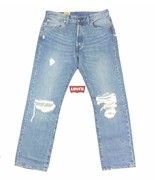 Levi's 501 Button Fly Blue Jeans ALL SIZES Original Straight Leg Fit Distressed - $35.49