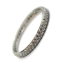White Gold Ring 750 18K, Eternity, 2.5 mm, Double Row, Zircon Cubic image 1