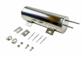 "3""x9"" Stainless Radiator Coolant Overflow Reservoir Tank w/ Twist Cap Univ. image 2"