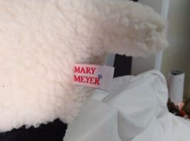 "Mary Meyer Plush Fluffy Lamb Sheep WHite & Black 14"" Lgth 8.25"" tall CUTE image 8"