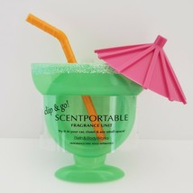 Retired Margarita Glass Drink Scentportable Bath Body Works Clip with Sc... - $21.95