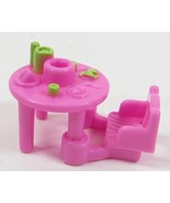 1995 Vintage Polly Pocket Dolls Pop-Up Clubhouse - Pink Table with Chair - $5.00