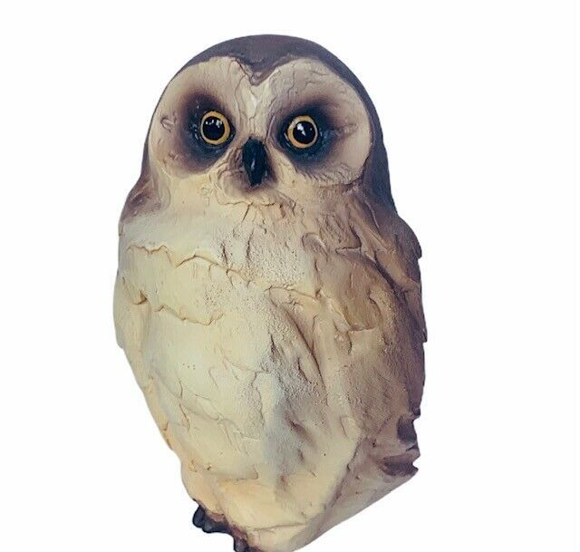 Primary image for Owl figurine vtg sculpture Levala signed artist resin stone pottery clay barn