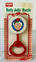 Vintage 1990 Playskool Baby Holly Jolly Rattle New In Package - $34.65