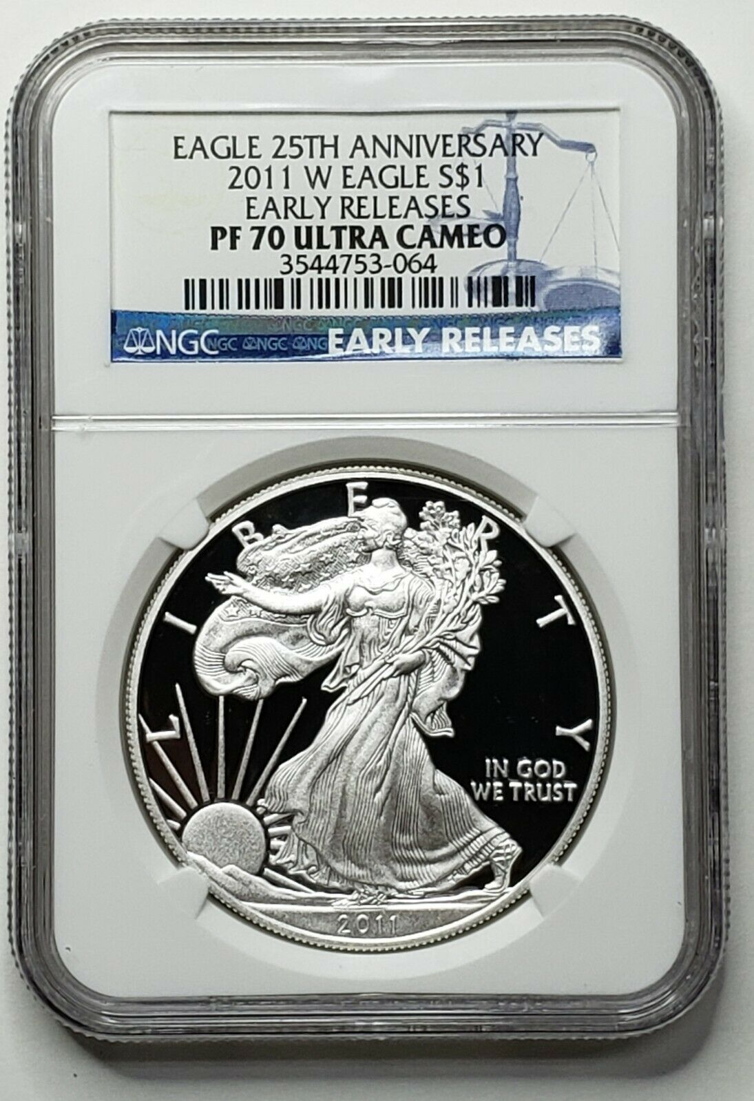 2011W Silver Eagle 25th Anniversary Set Proof NGC PF70 Lot  519-49