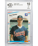 1988 FLEER #539 TOM GLAVINE BCCG GEM MINT 10 (MR) - $197.99