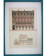 ARCHITECTURE Beautiful Color Print - VICTORIAN Mansion Paris rue Courcel... - $53.96