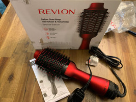 Revlon Salon One-Step Hair Dryer And Volumizer Hot Air Brush Red Special Edition - $24.74