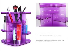 360 Rotating Height Adjustable Cosmetic Stand Makeup Organizer Arcrylic - $35.71