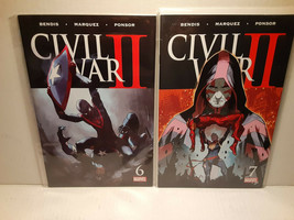 CIVIL WAR II  #6 AND 7 - MILES MORALES SPIDER-MAN - FREE SHIPPING - $14.03