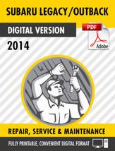 2014 Subaru Outback & Subaru Legacy Factory Repair Service Manual - $13.86