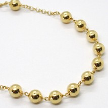 18K YELLOW GOLD  ROSARY BRACELET, 5 MM SPHERES, CROSS & MIRACULOUS MEDAL image 2
