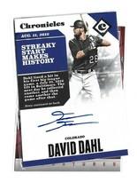 David Dahl 2017 Panini Chronicles Autograph - $3.25
