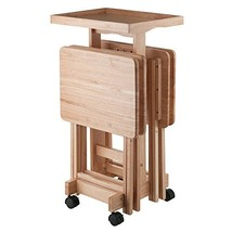 Winsome Wood 42820 Isabelle 6 Piece Snack Table Set Natural - $142.25