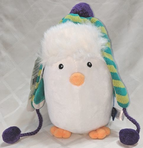 Baby Aspen BA11039NA Ice Caps Hat For Baby And Penguin Plush Gift Set