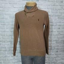 Polo Ralph Lauren Mens S Tan Shawl Button Collar Long Sleeve Pullover Sw... - $28.04