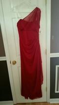 Davids Bridal Gown Mesh One Shoulder  Bridesmaid Prom Dress Apple 12M  809 - $89.99