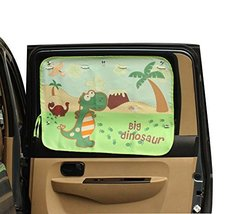 Dinosaur Cartoon Car Curtain Sunshade Drape Visor Car Window Curtain