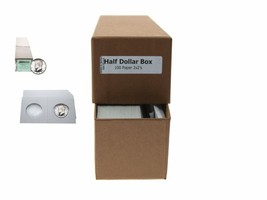 """Guardhouse Brown/Half Dollar Coin Box with 100 flips, 2"""" x 2"""" x 8.5"""" - $8.54"""