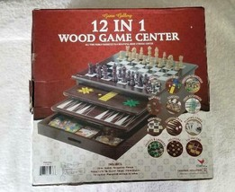 Cardinal 12 in 1 Wood Game Center - New / Sealed - $35.98