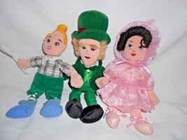 Warner Bros Wizard of Oz Bean Bag Soft Dolls Lot of 3 Lollipop Lullaby B... - $24.73