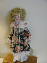 """Bisque porcelain Sweetheart doll collection 17"""" Jamie On Stand w/ tags H... - $20.19"""
