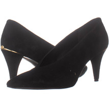 Michael Kors 321 Pointed Toe Pumps, Black Suede Leather 191, Black Suede - $32.63