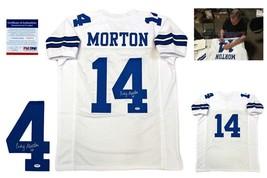 Craig Morton SIGNED Custom Jersey - PSA/DNA - Autographed w/ Photo - White - $108.89