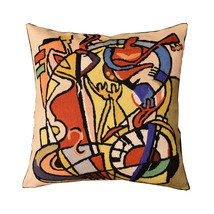 Wild Party I by Alfred Gockel Accent Pillow Cover-Handembroidered Wool 1... - €48,14 EUR