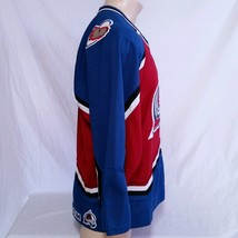 Colorado Avalanche CCM Hockey Jersey NHL Throwback VTG Authentic Mens Size Large image 2