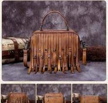 Sale, Vintage Full Grain Leather Shoulder Bag, Designer Handbag For Women image 6