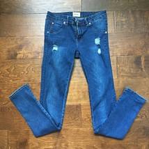 Size16 Hudson Girls' Kids Dark Blue Cotton Pockets Skinny Slim Fit Distr... - $12.19