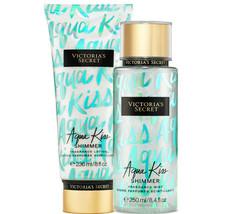 Victoria's Secret Aqua Kiss Shimmer Fragrance Lotion + Fragrance Mist Duo Set    - $39.95